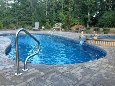 Oasis Pools Raleigh Nc Pool Builder Vinyl Liner And Trilogy Pool Builder Trilogy Pools