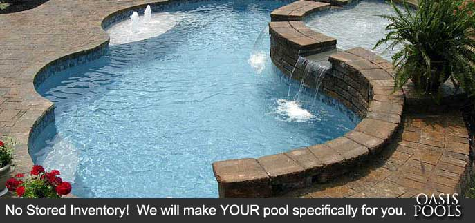 Oasis Pools Concrete Vinyl Liner And Inground Pool